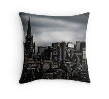 Edinburgh Old Town - Edgy version Throw Pillow