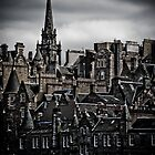 Edinburgh Old Town - Edgy version - vertical by Jan Cervinka
