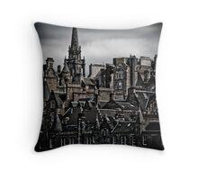 Edinburgh Old Town - Edgy version - vertical Throw Pillow