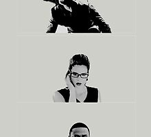Team Arrow - Oliver, Felicity & Diggle by D. Abdel.