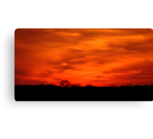"""May I never miss a sunset or a rainbow because I am looking down"" - Sara June Parker Canvas Print"