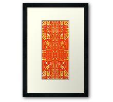 linear orange Framed Print