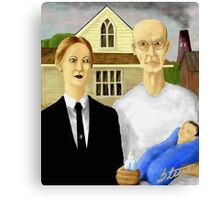 American Gothic Parody Canvas Print