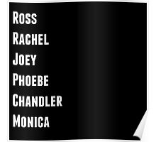 Friends Names Poster