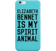 Elizabeth Bennet_Black iPhone Case/Skin
