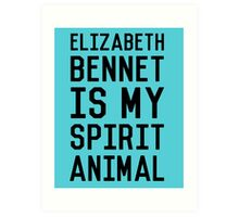 Elizabeth Bennet_Black Art Print