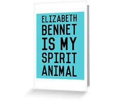 Elizabeth Bennet_Black Greeting Card