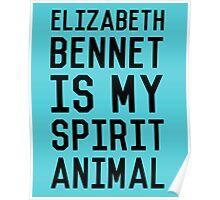 Elizabeth Bennet_Black Poster