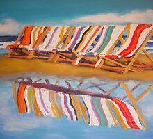 Beach chairs by gillsart