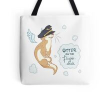 Otter on the Flight Deck Tote Bag