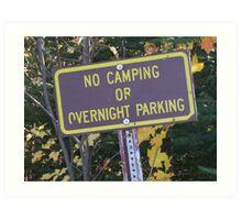 No Parking Art Print