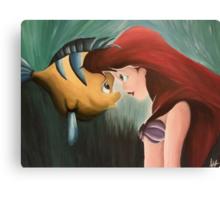 Ariel & Flounder Canvas Print