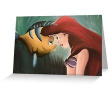 Ariel & Flounder Greeting Card