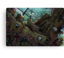 Underwater Shipwreck Canvas Print
