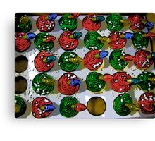 Comic Abstract Christmas Cupcakes Canvas Print