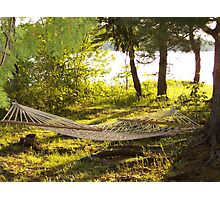 Hammock in the Sunset Photographic Print