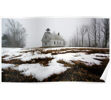 One Room Schoolhouse - Harrison,  Maine Poster