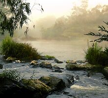 Yarra River, Warrandyte. by Ern Mainka
