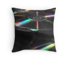 Compact Disks Throw Pillow