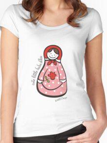 Cute Little Babushka 2 Women's Fitted Scoop T-Shirt