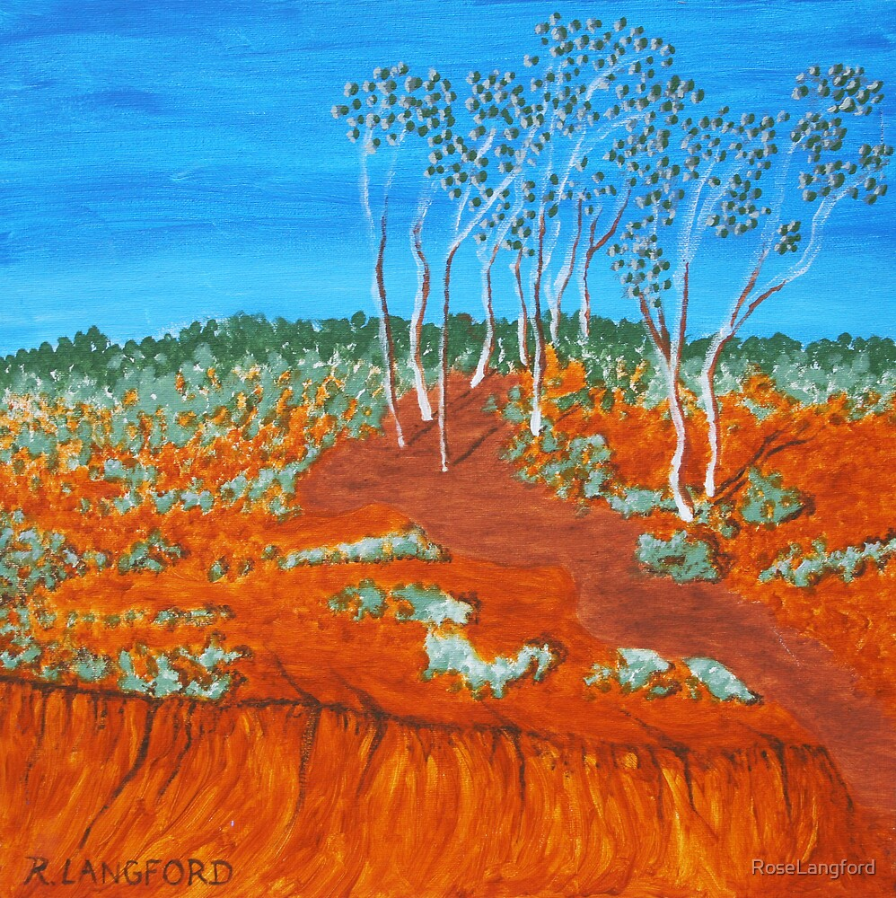 PLEIN AIR, RED GULLY by RoseLangford