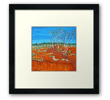 PLEIN AIR, RED GULLY Framed Print