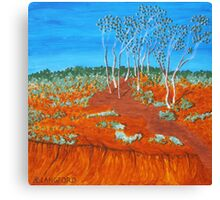 PLEIN AIR, RED GULLY Canvas Print