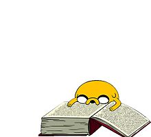 Adventure time Jake The Dog reads book by Jungyoomi