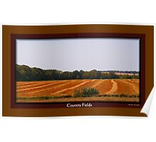 Country Fields Poster