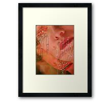 laura - pink Framed Print