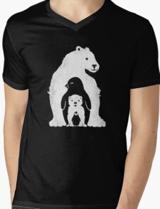 Arctic Friends Mens V-Neck T-Shirt