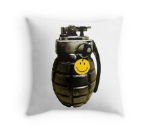 Bad Company Grenade Throw Pillow