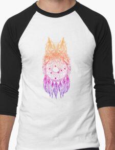 Dreamy Owl_Multi Pink Men's Baseball ¾ T-Shirt
