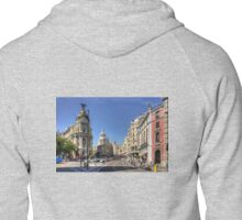 The end of the Calle de Alcalá Zipped Hoodie