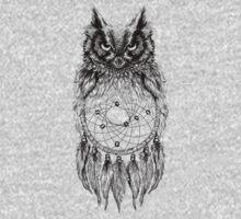 Dreamy Owl_Black Kids Clothes