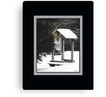 Freezing Lone Shelter (Print/Wall Art) Canvas Print