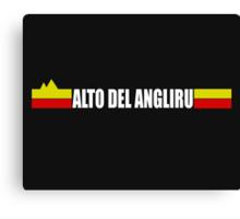 Alto Del Angliru Cycling Shirt Vuelta Espana Canvas Print