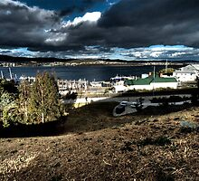 harbor at hobart by John Adulcikas