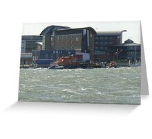 Lifeboat on the water Greeting Card
