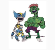Spindleneck. (Wolverine vs Hulk) Kids Clothes
