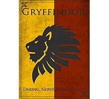 Game of Thrones Banner - Gryffindor Photographic Print