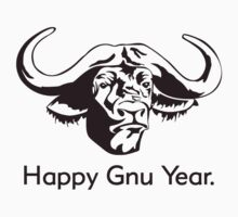 Happy Gnu Year by TheShirtYurt