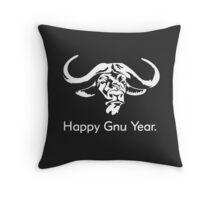 Happy Gnu Year Throw Pillow