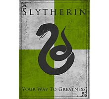 Game of Thrones Banner - Slytherin Photographic Print