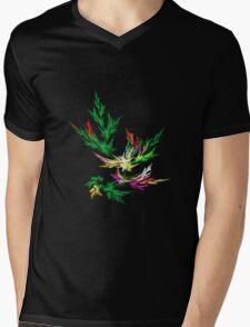 Fractal Leaves Mens V-Neck T-Shirt