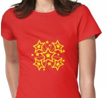 EXPLODING STARS Womens Fitted T-Shirt