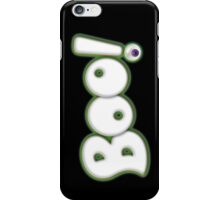 Ghostly Cartoon Bold Graphic lettering  'Boo' Halloween Type - Black Purple Eyeball iPhone Case/Skin