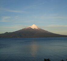 Volcano close to Puerto Varas, Chile by Zac Gillett