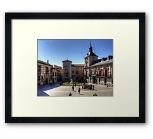 Plaza de la Villa, Madrid Framed Print
