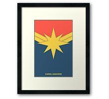 Captain Marvel: Carol Danvers Framed Print